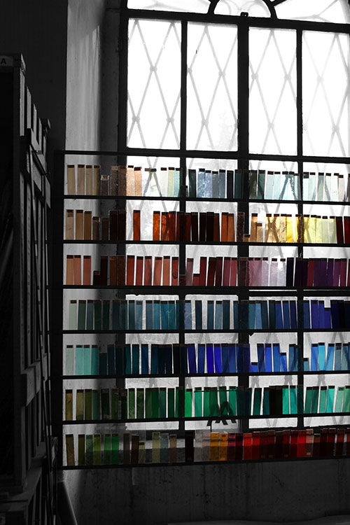 Vetrate Artistiche Santhomè, Campioni di Colore
