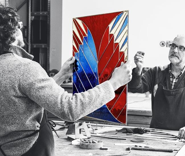 Vetrate Artistiche Santhomè, Dario e Riccardo Casati